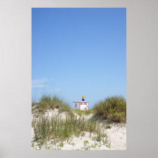 Salvavidas de la playa impresiones