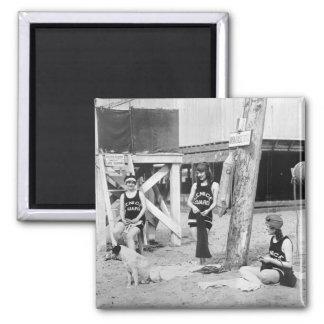Salvavidas de Venecia que hacen punto, 1900s tempr Imán Cuadrado