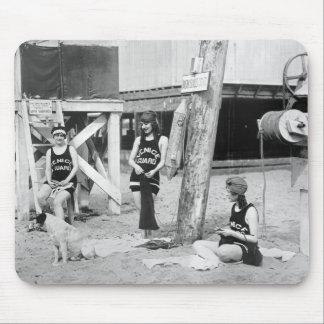 Salvavidas de Venecia que hacen punto, 1900s tempr Alfombrillas De Raton