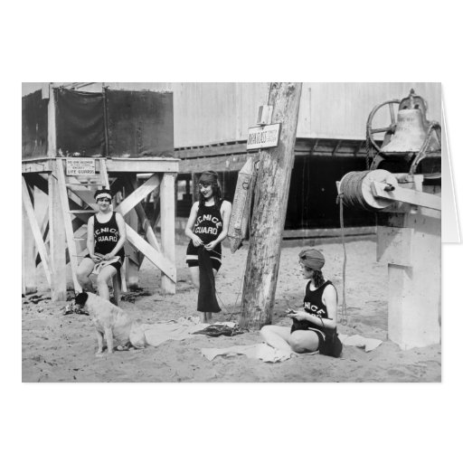 Salvavidas de Venecia que hacen punto, 1900s tempr Tarjetón