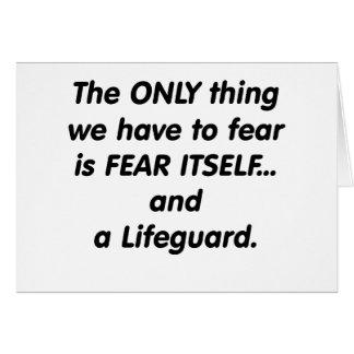 salvavidas del miedo tarjeta de felicitación