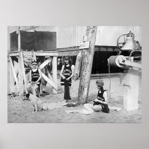 Salvavidas que hacen punto, 1900s tempranos impresiones