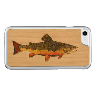 Salvelinus Fontinalis Carved iPhone 8/7 Case