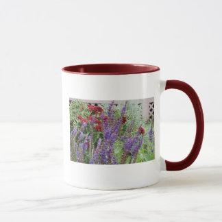 salvia and mums mug