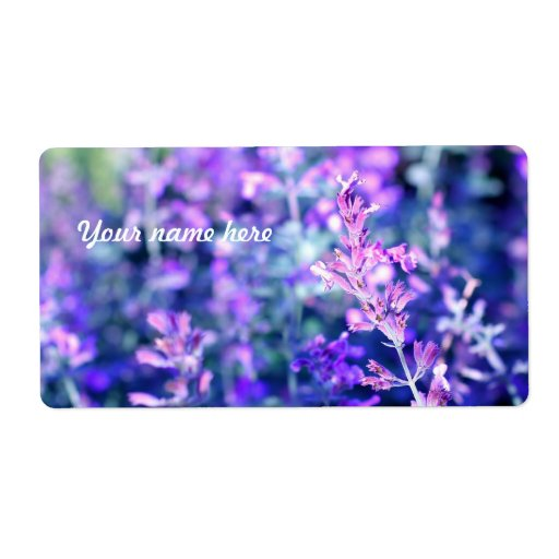 Salvia floreciente hermoso etiquetas de envío