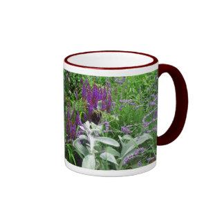 Salvia, lavendar, lamb's ear ringer mug