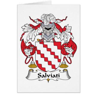 Salviati Family Crest Card