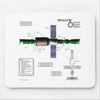 Salyut 6 Illustration Mouse Pad