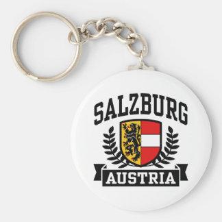 Salzburg Austria Basic Round Button Keychain