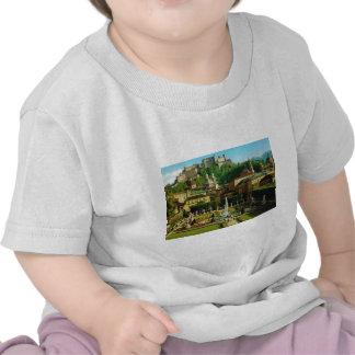 Salzburg Austria gardens and castle T-shirts