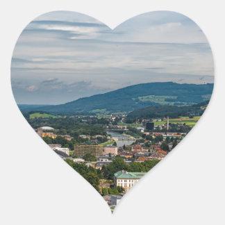 salzburg, Austria Heart Sticker