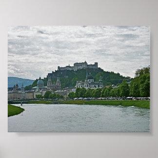 Salzburg, Austria, impresión de la fortaleza de