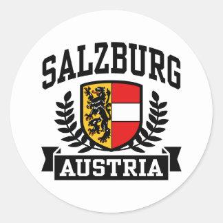 Salzburg Austria Pegatina Redonda