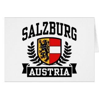 Salzburg Austria Tarjeta De Felicitación