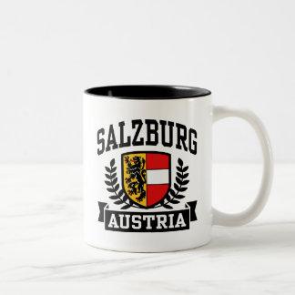 Salzburg Austria Taza De Café De Dos Colores