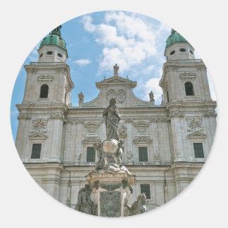 Salzburg Cathedral Round Stickers