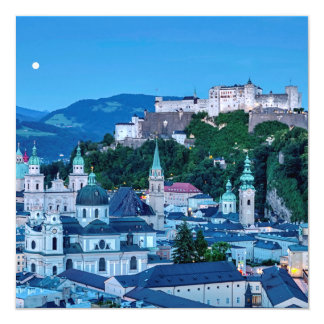 Salzburg city, Austria Card