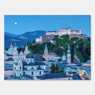 Salzburg city, Austria Sign