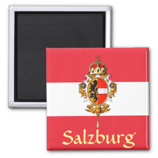 Salzburg Coat of Arms 2 Inch Square Magnet
