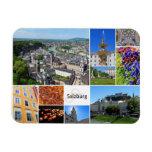 Salzburg Collage Rectangular Photo Magnet