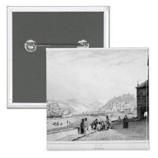 Salzburg, engraved by Bayot & Cuvilier, 1840 2 Inch Square Button
