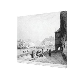 Salzburg, engraved by Bayot & Cuvilier, 1840 Canvas Print
