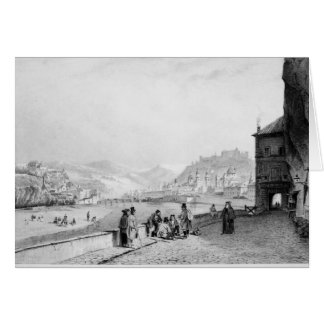 Salzburg, engraved by Bayot & Cuvilier, 1840 Greeting Card