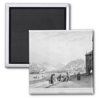 Salzburg, engraved by Bayot & Cuvilier, 1840 2 Inch Square Magnet
