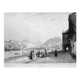 Salzburg, engraved by Bayot & Cuvilier, 1840 Postcard