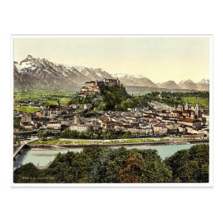 Salzburg, from the Kapuzinerberg, Austro-Hungary r Postcard