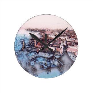 Salzburg In Art Round Clock
