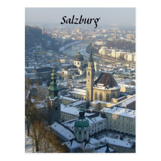 salzburg winter postcard