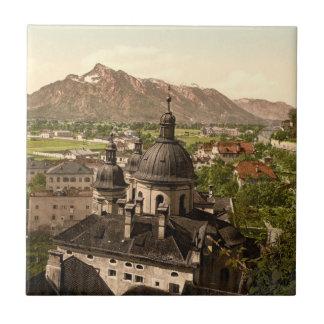 Salzburg y Untersberg, Austria Azulejo Cuadrado Pequeño