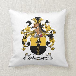 Salzmann Family Crest Throw Pillow