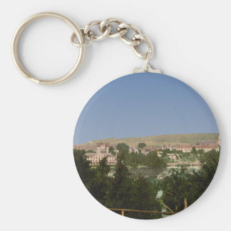 Salzungen with the castle, from Seeberg, Thuringia Keychain