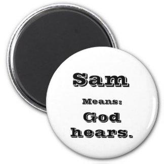 Sam 2 Inch Round Magnet