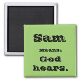 Sam 2 Inch Square Magnet