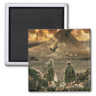 Sam and FRODO™ Approaching Mount Doom 2 Inch Square Magnet