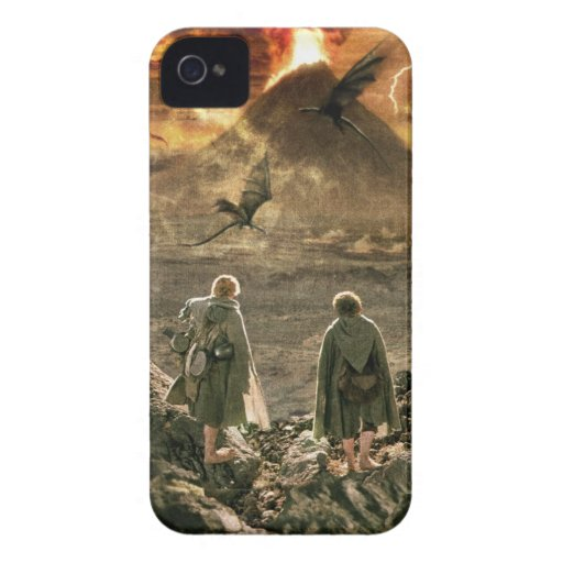 Sam and FRODO™ Approaching Mount Doom iPhone4 Case