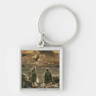 Sam and FRODO™ Approaching Mount Doom Silver-Colored Square Keychain