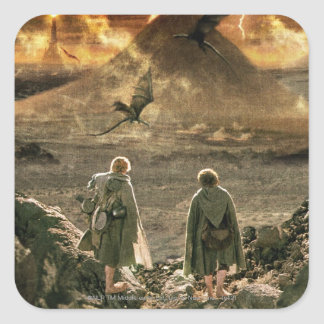 Sam and FRODO™ Approaching Mount Doom Square Sticker