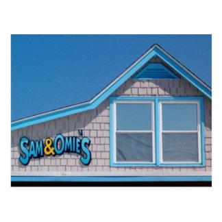 Sam and Omie's Restuarant Nags Head NC Postcard