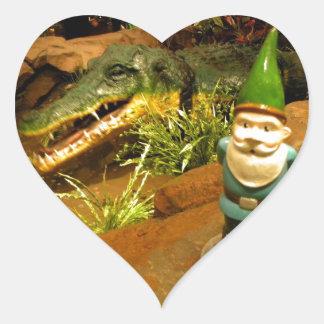 Sam and the Gator Heart Sticker