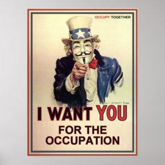 Sam anónimo le quiere para el empleo póster