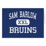 Sam Barlow - Bruins - High School - Gresham Oregon Greeting Card