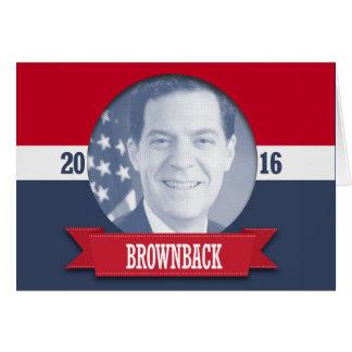 SAM BROWNBACK 2016 CARDS