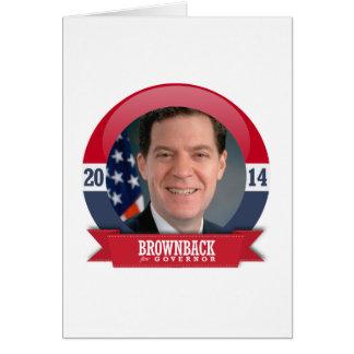 SAM BROWNBACK CAMPAIGN GREETING CARD