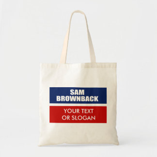 SAM BROWNBACK FOR GOVERNOR CANVAS BAGS