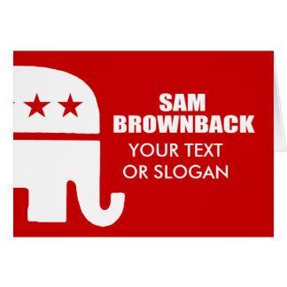 SAM BROWNBACK FOR GOVERNOR GREETING CARD