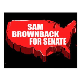 SAM BROWNBACK FOR GOVERNOR POSTCARD